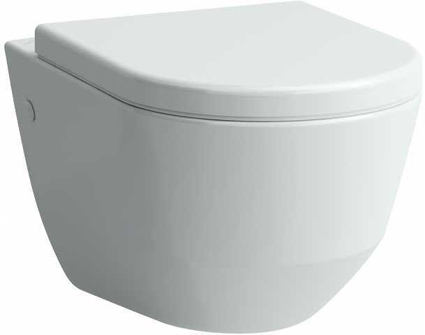 Laufen PRO Wand-Tiefspül-WC mit verdeckter Befestigung B:36xL:53cm manhattan H8209560370001
