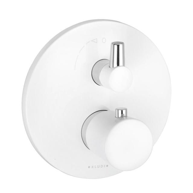 KLUDI BALANCE Unterputz-Wanne-Brause-Thermostatarmatur chrom/weiß 528309175