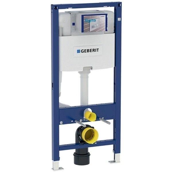 Geberit Duofix Element für Wand-WC 112cm mit Omega Unterputz-Spülkasten 12cm Betätigung von vorne 111060001