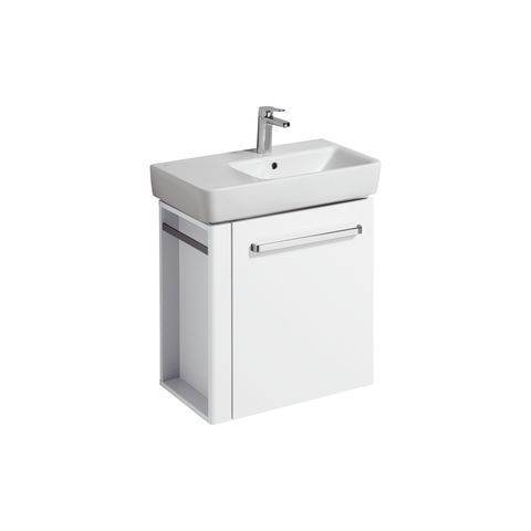 Geberit Keramag Renova Compact Waschtischunterschrank Handtuchhalter links B:59xH:60,4xT:33,7cm weiß 862265000