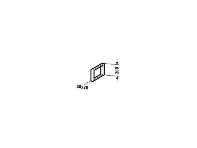 Duravit Konsolenträger-Handtuchhalter Universal 480x40x200mm chrom UV990300000