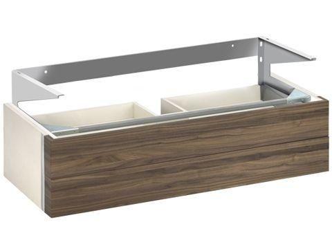 Keuco Edition 300 Waschtischunterbau 2 Frontauszüge weiß Hochglanz/anthrazit 30374213900