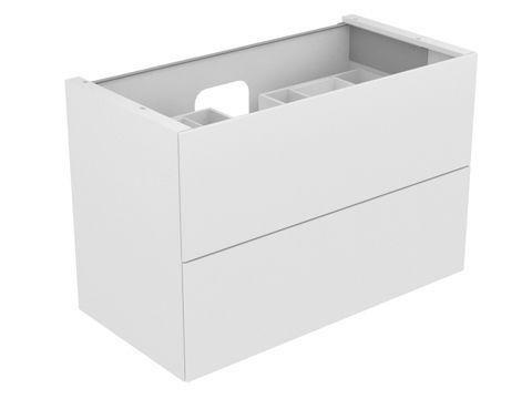Keuco Edition 11 Waschtischunterbau 2 Frontauszüge mit Beleuchtung eiche platin 31352440100
