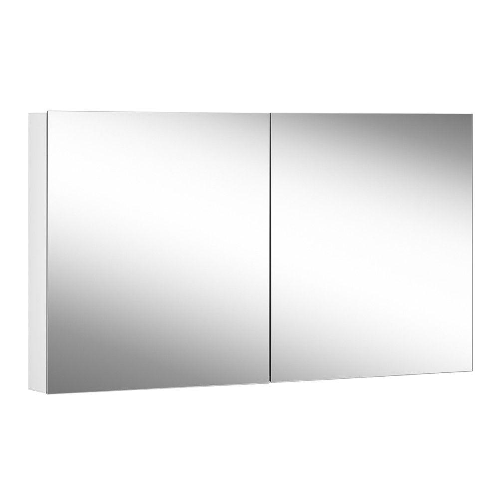 Schneider Spiegelschrank ADVANCED Line Comfort 130/2/TW B:130xH:70xT:12cm mit Beleuchtung mit Kosmetikspiegel weiß 179.130.02.02