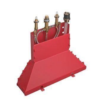Hansgrohe 13444180 Grundkörper 4-Loch Wannenarmatur für Wannenrandmontage mit Secuflexbox