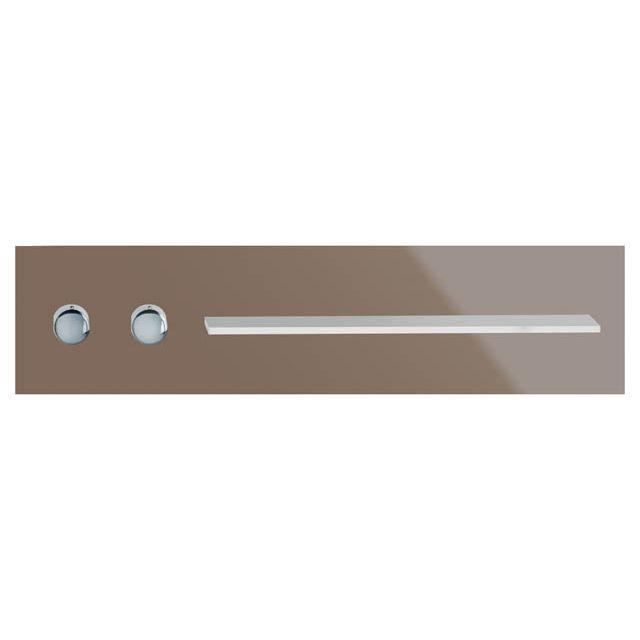 Keuco meTime_spa Thermostatbatterie DN 20 für 1 Verbraucher Griffe links Glas trüffel 56161011401