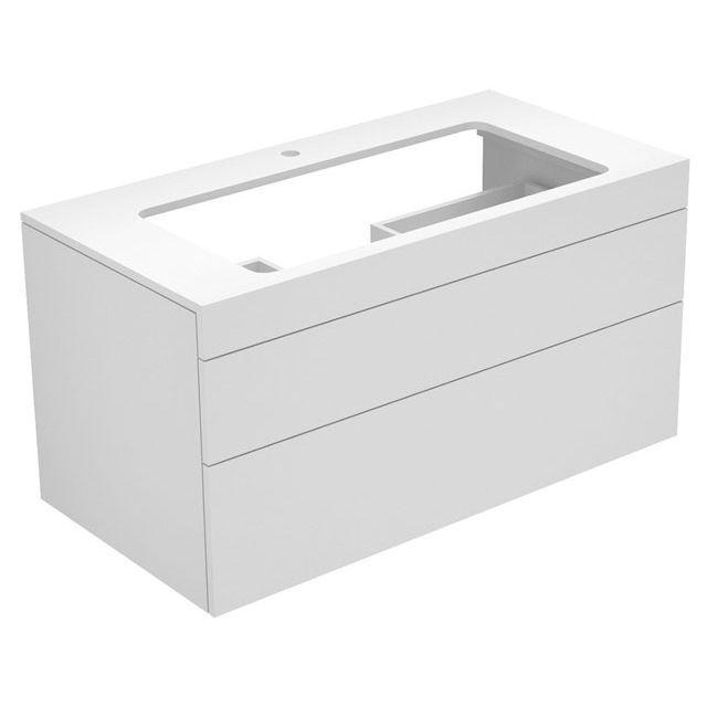 Keuco Edition 400 Waschtischunterbau mit Hahnlochbohrung 2 Auszüge 1050 x 546 x 535 mm eiche anthrazit/eiche anthraz. 31582860100