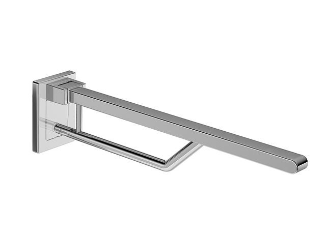 HEWI Stützklappgriff Duo L:700 mm Vierkant B:40 mm H:30 mm verchromt 950.50.62040