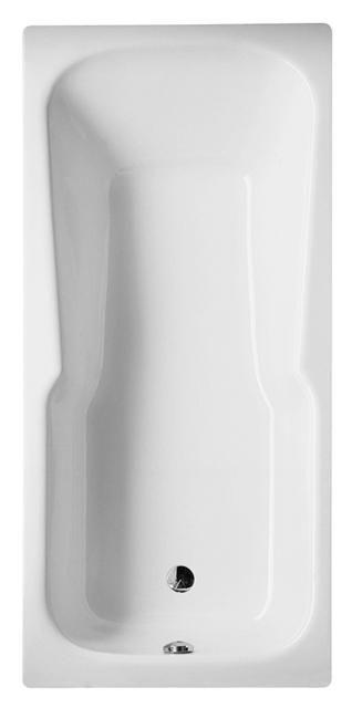 Bette Set Rechteck-Badewanne L:180xB:80xT:38cm mit Griffbohrung weiß 3860-0002GR