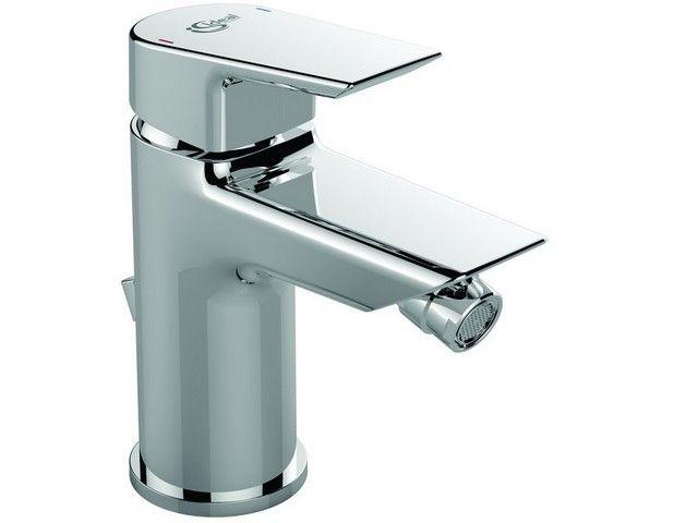 Ideal Standard Tesi Bidetarmaturen mit Ablaufgarnitur mit Ablaufgarnitur Starrer Gussauslauf Ausladung 95 mm chrom A6579AA
