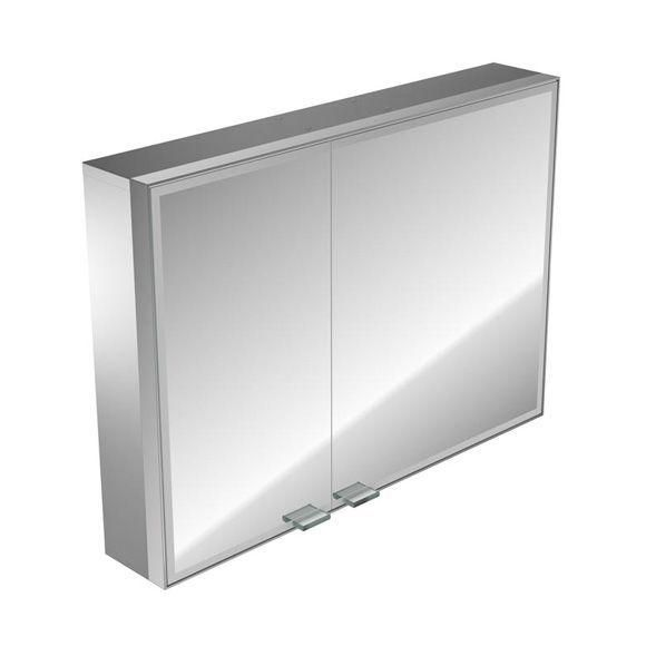 Emco asis prestige Lichtspiegelschrank ohne Radio 989706021, Aufputz, Breite 987 mm, breite Tür rechts