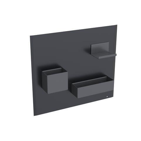 Geberit Keramag Acanto Magnetwand Set B:44,9 x H:38,8 x T:7,5 cm Magnetwand: Schwarz matt, Ablage und Boxen: Lava matt 500649161