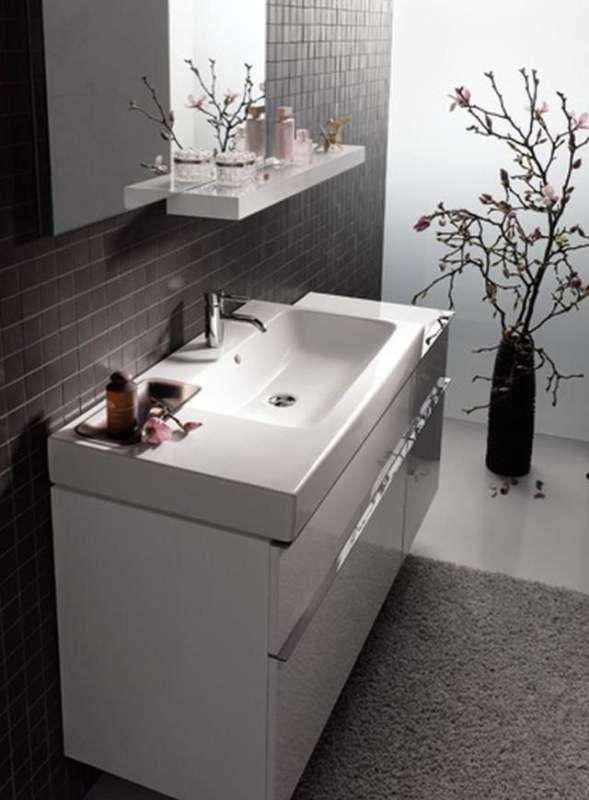 Geberit Keramag iCon Waschtischunterschrank mit 1 Auszug und 1 Schublade B:890xT:477xH:620mm alpin hochglanz 840390000