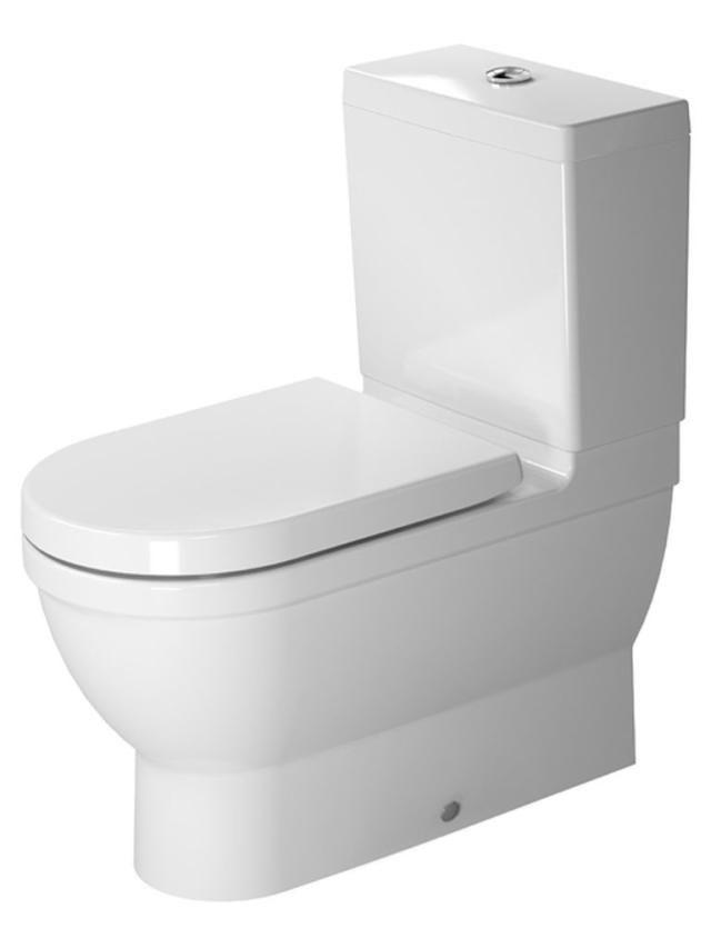 Duravit Starck 3 Tiefspül-Stand-WC für Aufsatzspülkasten L:70xB:37cm weiß 2141090000