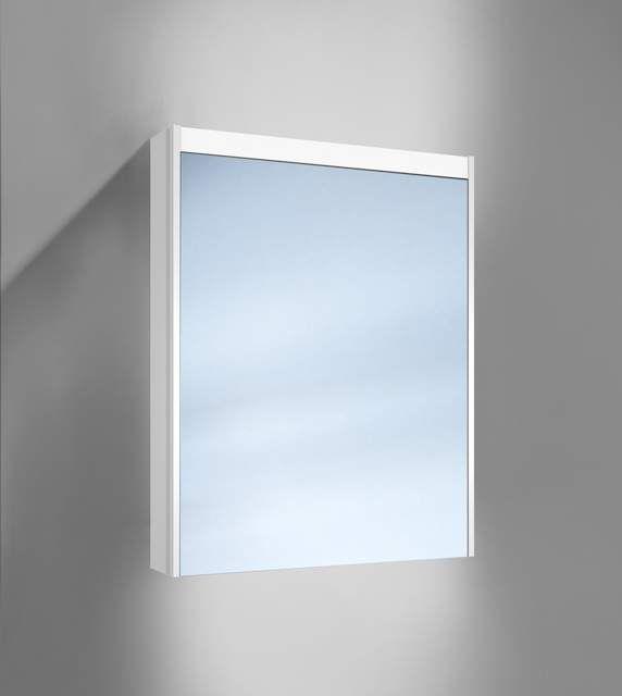 Schneider O-Line LED Spiegelschrank B:60xH:74,5xT:12,8cm 1 Tür Anschlag links weiß 164.261.02.02