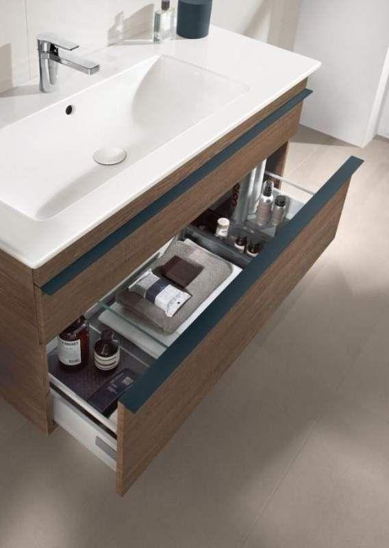 Villeroy & Boch Venticello Waschtischunterschrank 2 Auszüge B:953xT:502xH:590mm ulme impresso Griffe chrom A92701PN