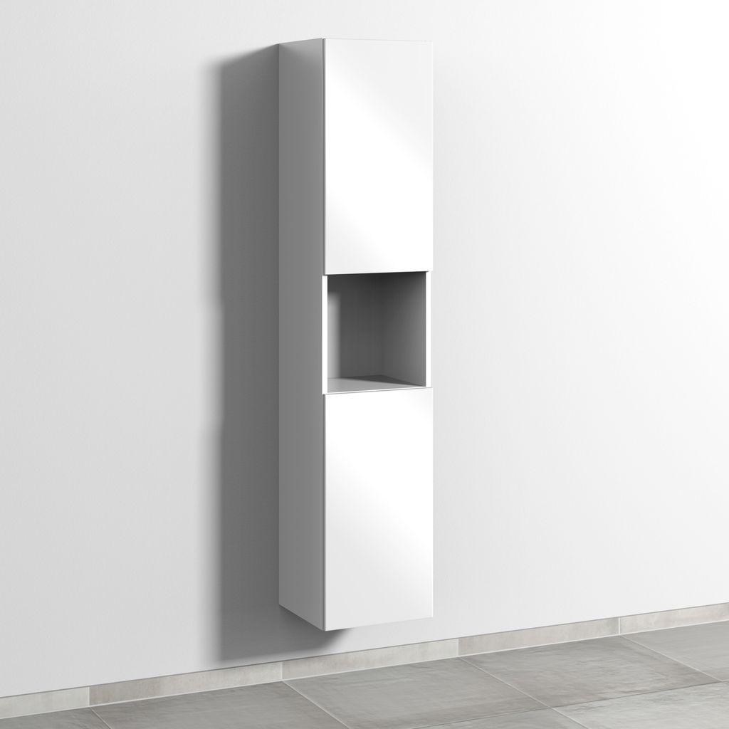 Sanipa 3way Hochschrank rechts 2 Türen Push to open L:170xB:35xT:34,5cm Weiß-Soft SM11543