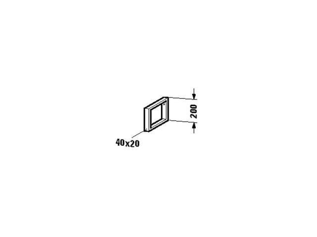 Duravit Konsolenträger-Handtuchhalter Universal 455x40x200mm chrom UV991700000