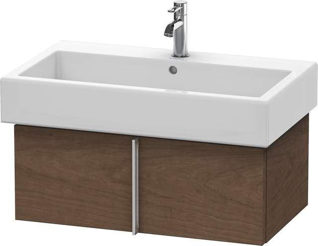 Duravit Vero Waschtischunterschrank wandhängend für 045480 B:75xH:29,8xT:43,1cm 1 Auszug amerikanischer Nussbaum VE610601313