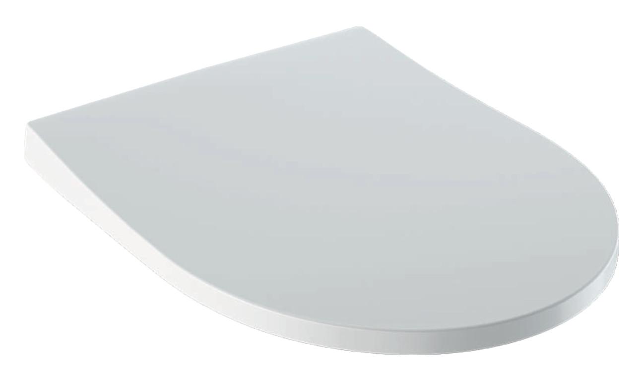 Geberit Icon WC-Sitz 36,5x45,5x5schmales Design mit Absenkautomatik und Quick Release und AntiBac weiß 500835011