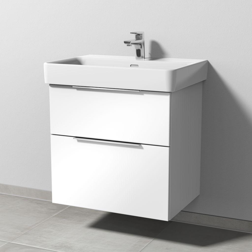 Sanipa 3way Waschtischunterbau mit Auszügen (UM767) H:59,3xB:60xT:43,7cm Weiß-Soft UM76743