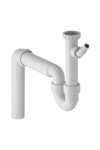 Geberit Rohrbogengeruchsverschluss für ein Spülbecken Abgang vertikal D50 152550111