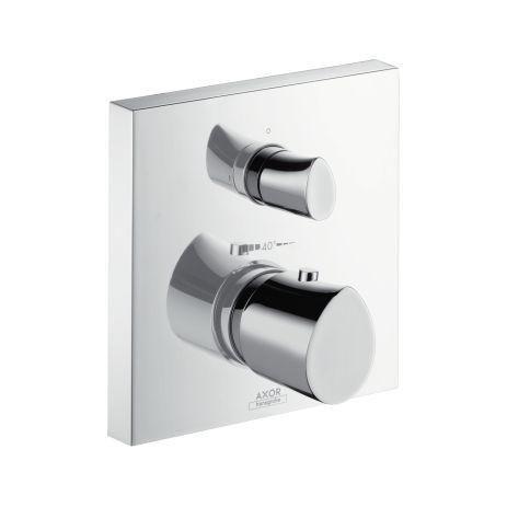 Hansgrohe Axor Starck Organic 12716000 Thermostat Unterputz Fertigset mit Absperr- und Umstellventil chrom