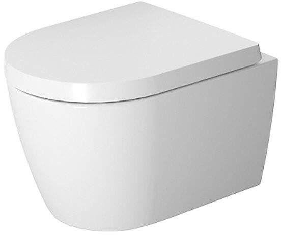 Duravit ME by Starck Tiefspül-Wand-WC Compact spülrandlos L:48xB:37cm Set mit WC-Sitz mit Absenkautomatik weiß 45300900A1