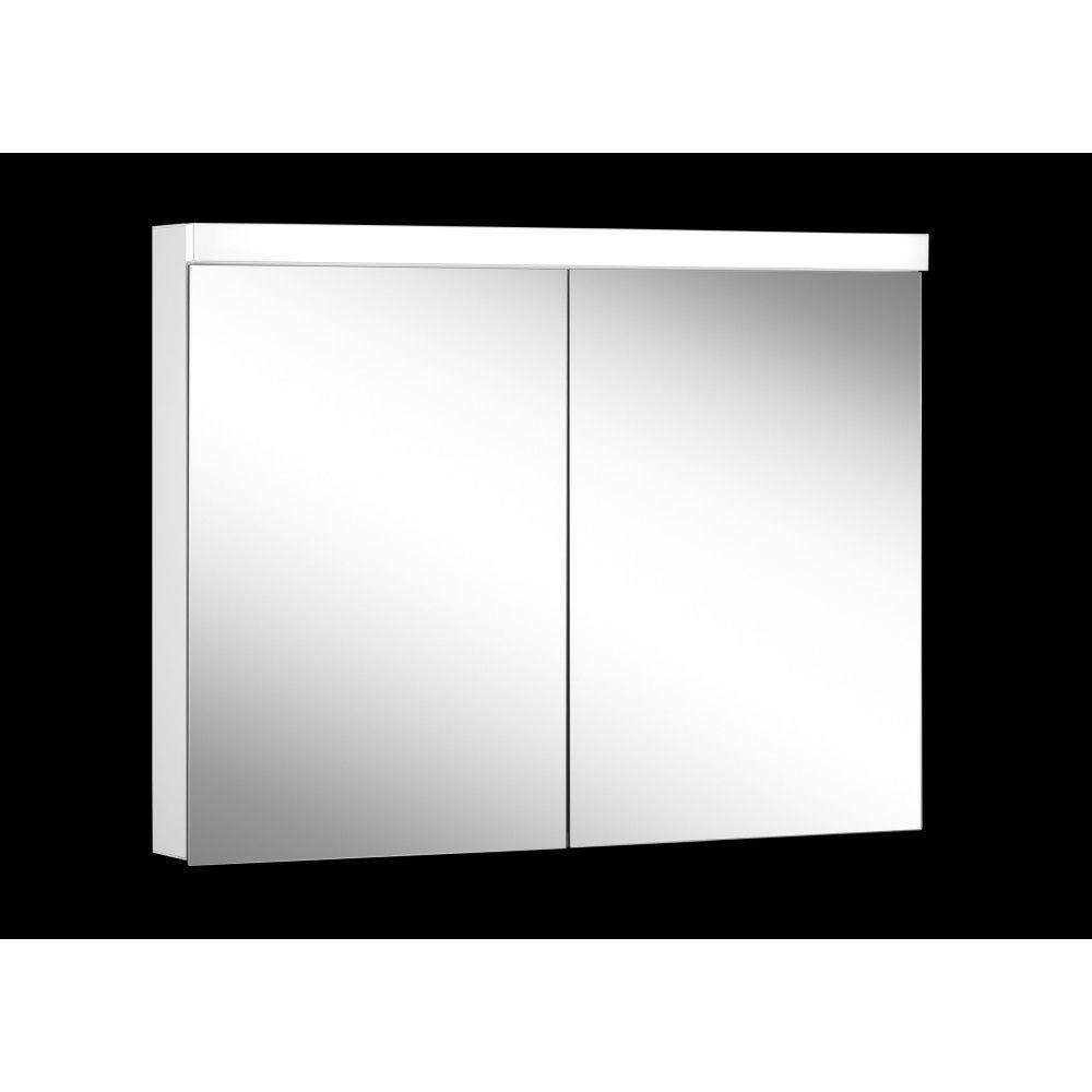Schneider Spiegelschrank LOWLINE Plus 100/2/LED B:100xH:74,8xT:12cm mit Beleuchtung weiß 172.100.02.02