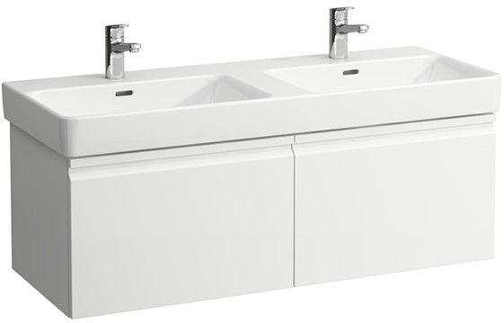 Laufen PRO S Waschtischunterbau mit 2 Auszügen und Innenschublade B:116xH:39,5xT:45cm weiß matt H4835640964631