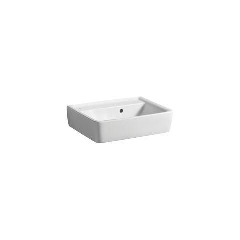 Geberit Keramag Renova Plan Handwaschbecken B:50xT:38cm ohne Hahnloch mit Überlauf weiß mit KeraTect 272153600