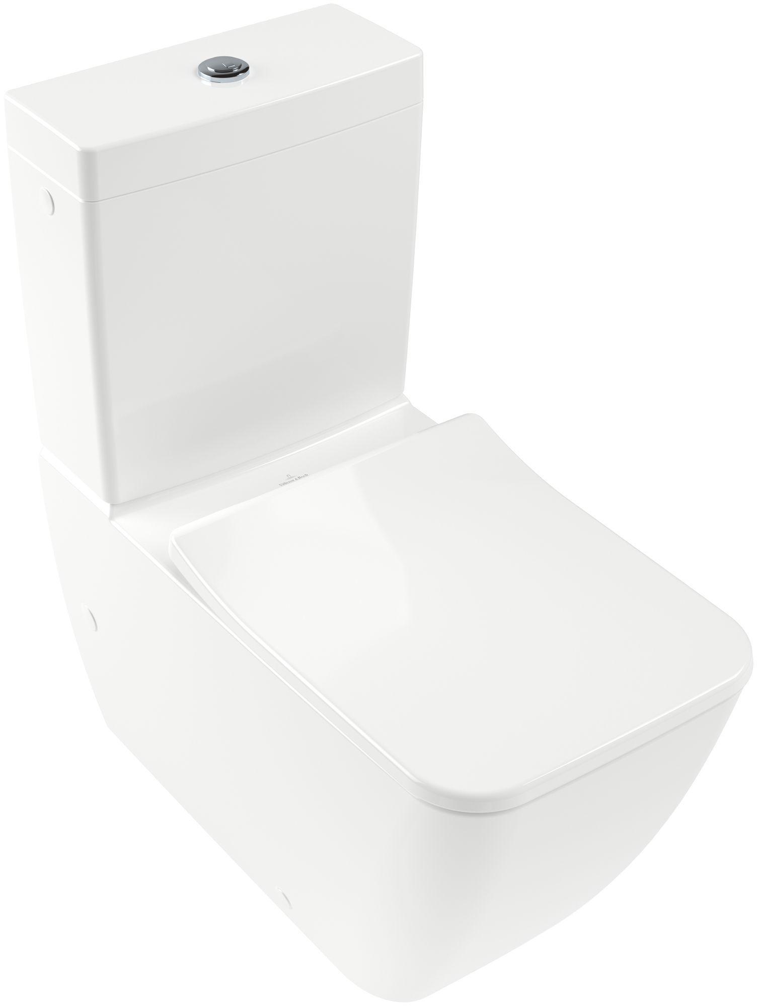 Villeroy & Boch Venticello Tiefspül-Stand-WC für Kombination spülrandlos DirectFlush B:37,5xL:70cm weiß 4612R001