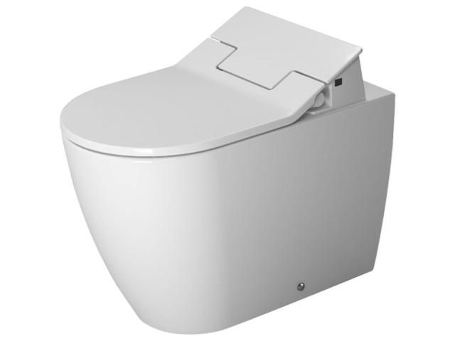Duravit ME by Starck Tiefspül-Stand-WC mit verdeckten Anschlüssen für SensoWash Abgang waagerecht L:60cm weiß mit Wondergliss 21695900001