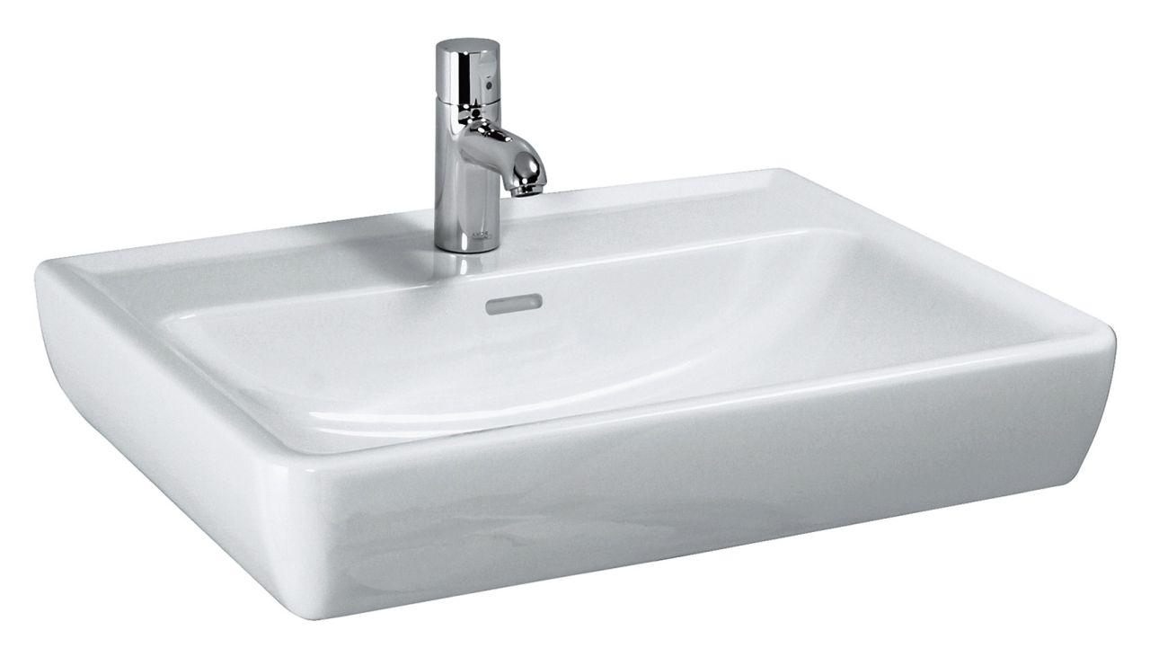 Laufen Pro Waschtisch B:55xT:48cm ohne Hahnloch mit Überlauf weiß H8189510001091