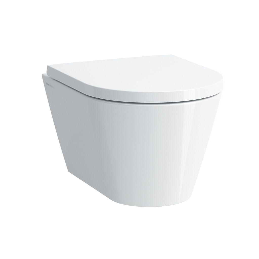 Laufen Tiefspül-WC wandhängend Kartell by Laufen 490x370x355 spülrandlos Ausführung kurz LCC weiss H8203334000001