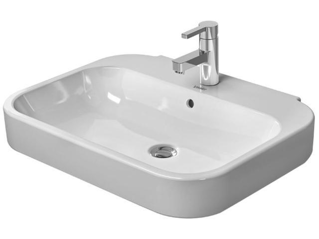 Duravit Happy D.2 Waschtisch B:60xT:47,5cm 1 Hahnloch mittig mit Überlauf weiß mit Wondergliss 23166000001