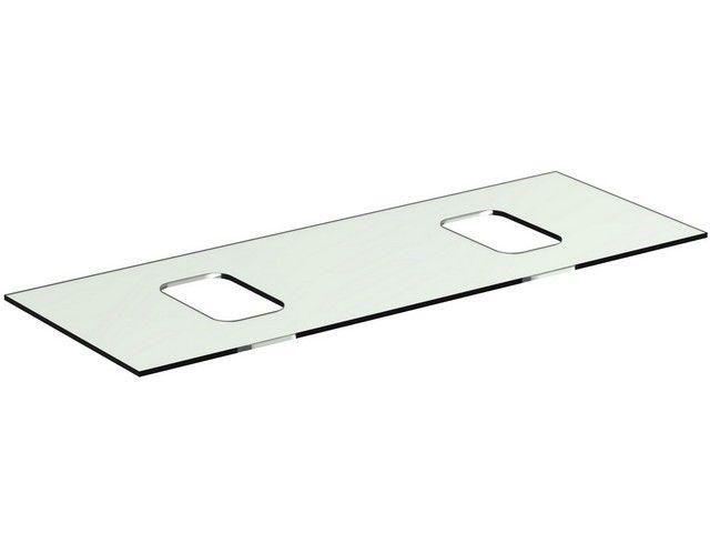 Ideal Standard TONIC II Glaskonsole für Schale symmetrisch 1206x444x10mm weiß R4333SA