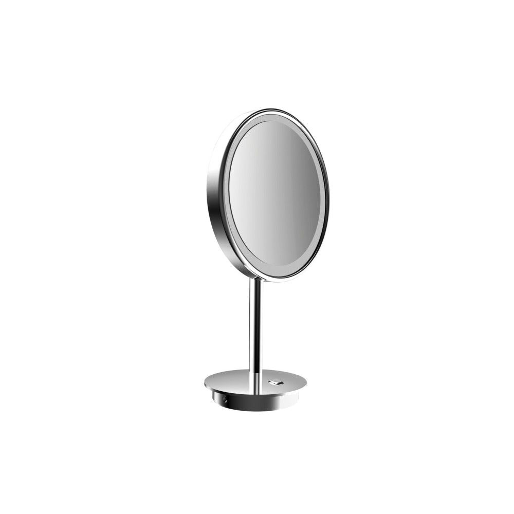 Emco Pure LED-Kosmetikspiegel D:20cm 3-fache Vergrößerung chrom 109406009