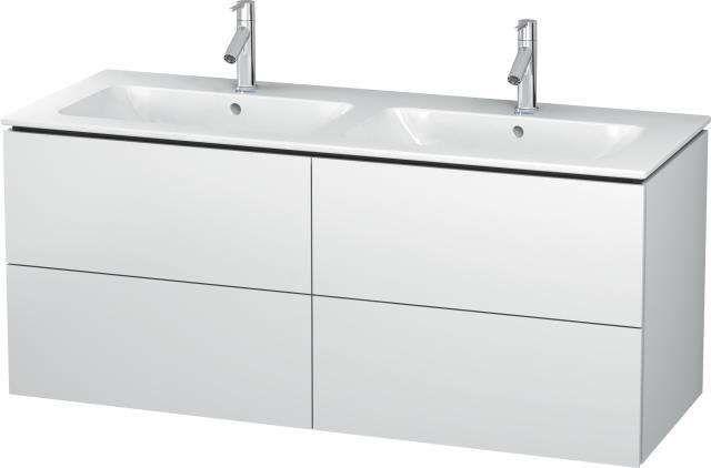 Duravit L-Cube Waschtischunterschrank wandhängend B:129xH:55xT:48,1 cm mit 4 Schubkästen weiß matt LC625901818