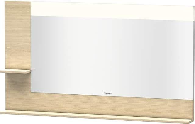 Duravit Vero Spiegel mit LED-Beleuchtung B:140xH:80xT:14,2cm mit Ablagen links und unten mediterrane eiche VE731407171