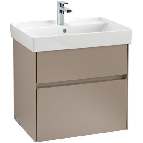 Villeroy & Boch Waschbeckenunterschrank Collaro, 604 x 546 x 444 mm, 2 Auszüge, Glossy White C00900DH