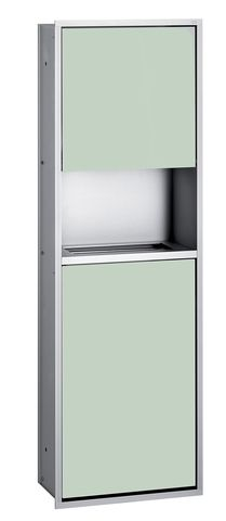 Emco asis 300 Sanitärmodul Unterputz H:100cm ohne Einbaurahmen Aluminium schwarz 975227551