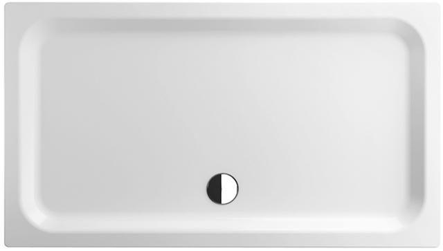 Bette Rechteck-Duschwanne extraflach L:140xB:140xT:6,5cm mit Antirutsch weiß 5829-000AR
