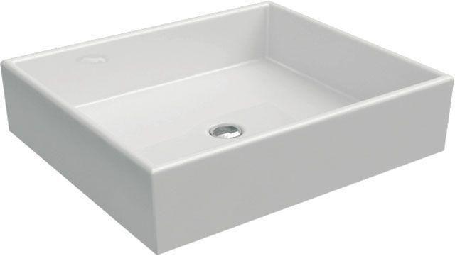 Ideal Standard Strada Aufsatzwaschtisch B:50xT:42xH:13,5cm ohne Hahnloch ohne Überlauf weiß mit Ideal Plus K0776MA