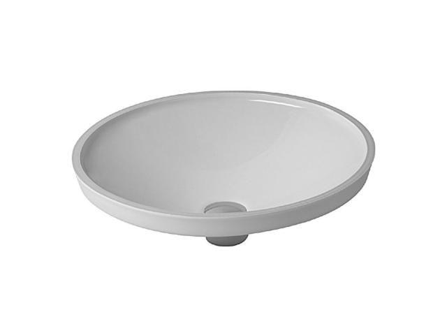 Duravit Architec Einbauwaschtisch rund DM:42cm ohne Hahnloch ohne Überlauf unten glasiert weiß 0319420000