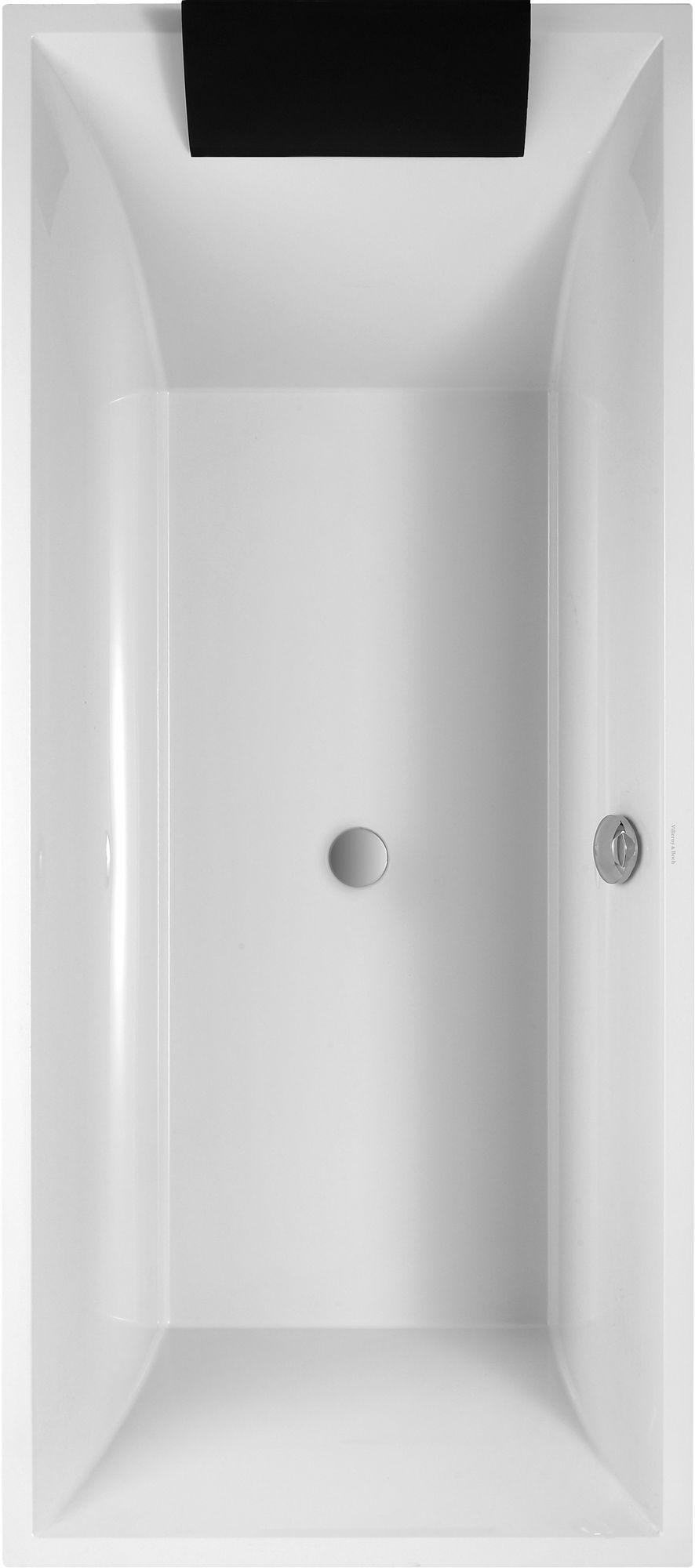 Villeroy & Boch Squaro Badewanne Rechteck UBQ180SQR2V-01 H: 500 B: 800 L: 1800 weiß