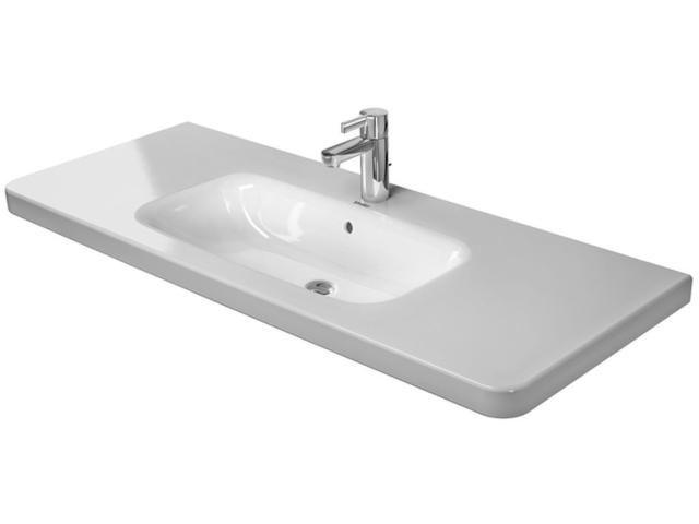 Duravit DuraStyle Möbelwaschtisch B:120xT:4,8cm 3 Hahnlöcher mit Überlauf weiß 2320120030