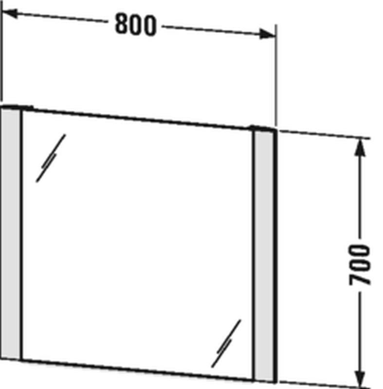 Duravit Licht&Spiegel mit Beleuchtung seitlich mit Sensorschalter B:80xH:70xT:3,4 cm LM787600000