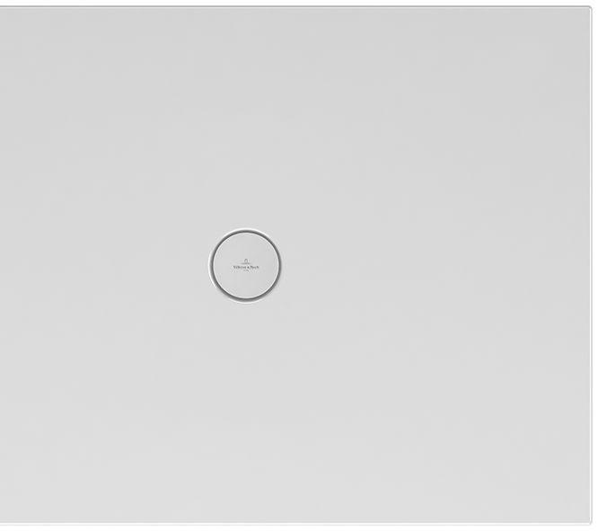 Villeroy & Boch Subway Infinity Duschwanne L:110xB:90xH:4 cm mit kurzer Seite geschnitten weiß mit Antirutsch 6230M402