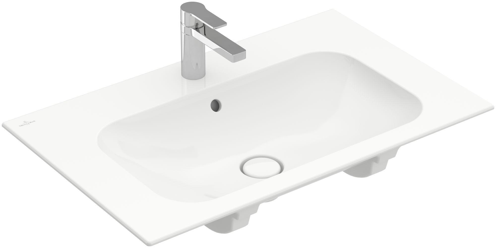 Villeroy & Boch Finion Schrankwaschtisch mit Überlauf 1 Hahnloch B:80xT:50cm mit Überlauf 1 Hahnloch weiß Ceramicplus 416480R1